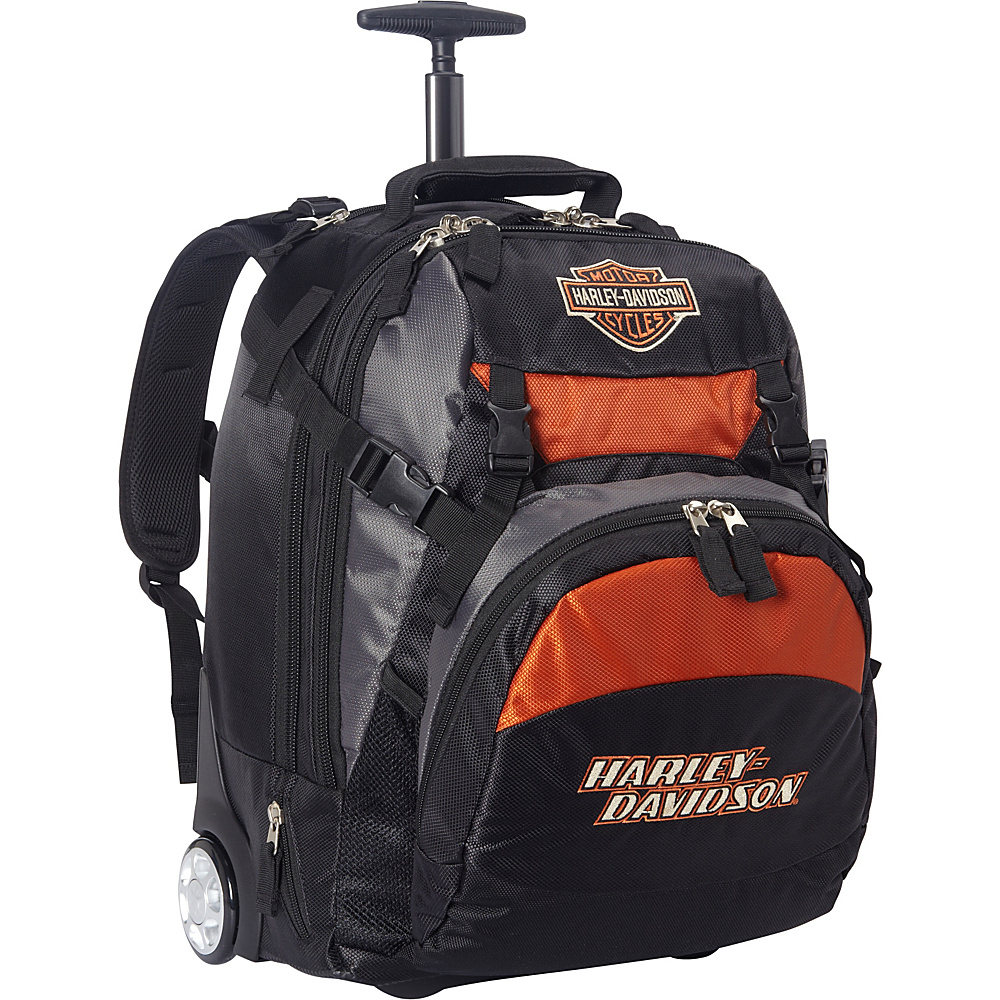 Harley Davidson by Athalon Bar Shield Wheeled Backpack Black Harley Davidson by Athalon Business Laptop Backpacks