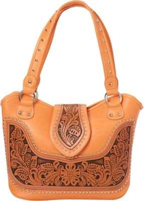 Montana West Tooling Concealed Handgun Collection Coral - Montana West Manmade Handbags