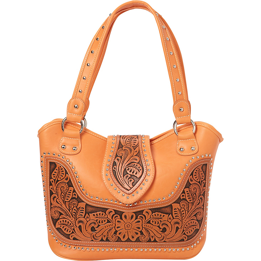 Montana West Tooling Concealed Handgun Collection Coral Montana West Manmade Handbags