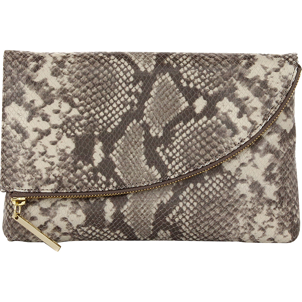 Elaine Turner Anabella Python Clutch Prairie Snake Elaine Turner Designer Handbags