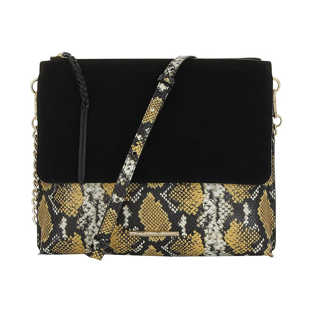 Elaine Turner Jax Crossbody Golden Ocre Python Elaine Turner Designer Handbags