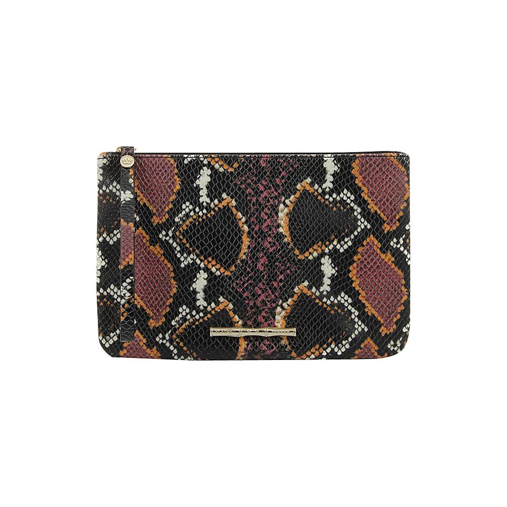 Elaine Turner Pouch Python Wristlet Retro Python Elaine Turner Leather Handbags