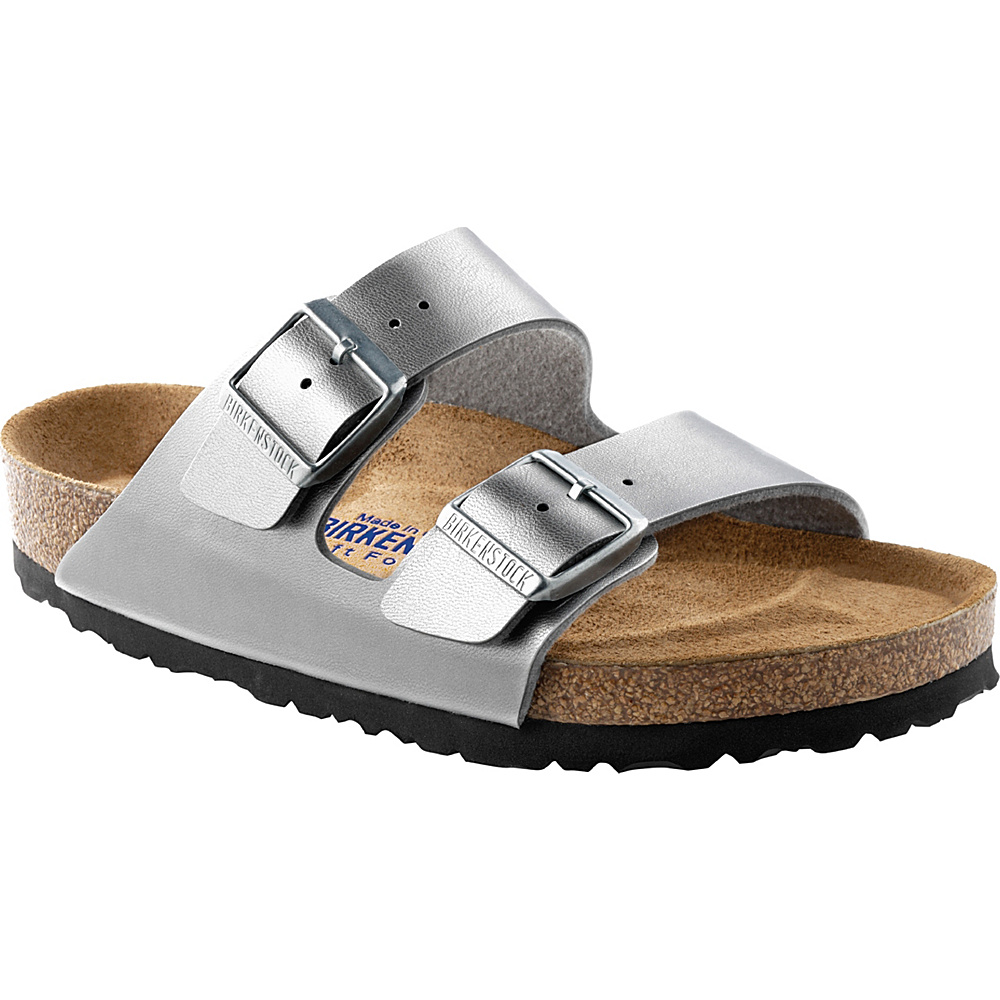 Birkenstock Arizona 37 US Women s 6 6.5 N Narrow Silver Birkenstock Women s Footwear