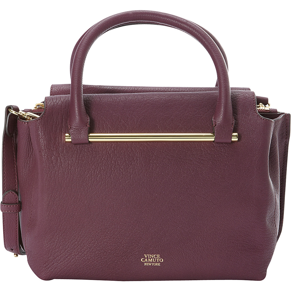 Vince Camuto Axl Satchel Berry Wine Vince Camuto Designer Handbags