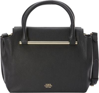 Vince Camuto Axl Satchel Black - Vince Camuto Designer Handbags