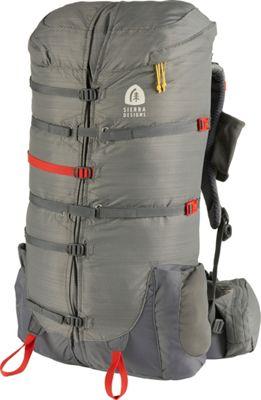 Sierra Designs Flex Capacitor 40-60L Hiking Backpack - S/M Jet Gray - XS/S Waist Belt - Sierra Designs Day Hiking Backpacks