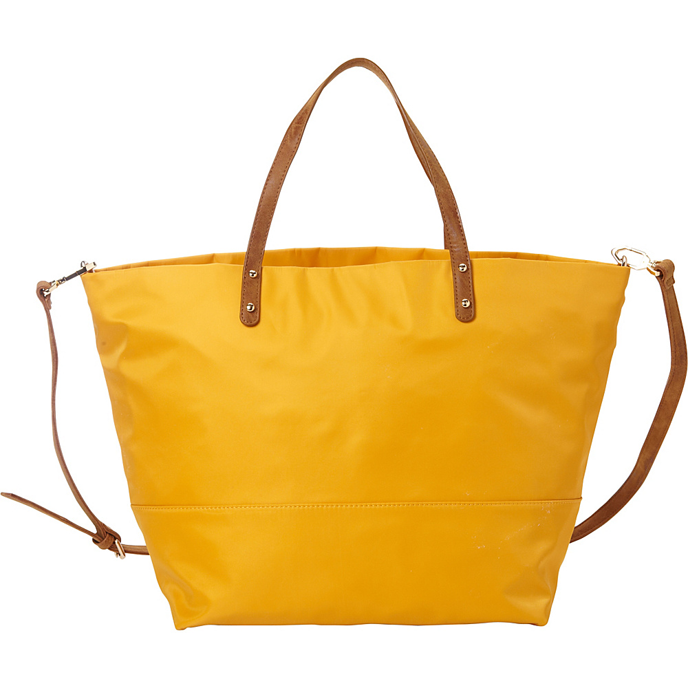 deux lux Linden Tote Mustard deux lux Manmade Handbags