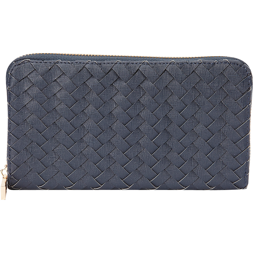 deux lux Mott Zip Wallet Navy deux lux Women s Wallets