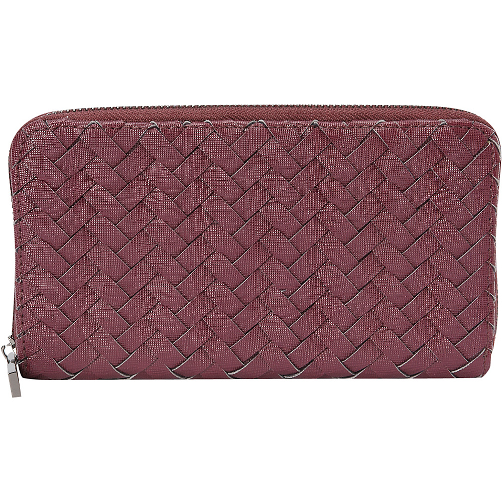 deux lux Mott Zip Wallet Wine deux lux Women s Wallets