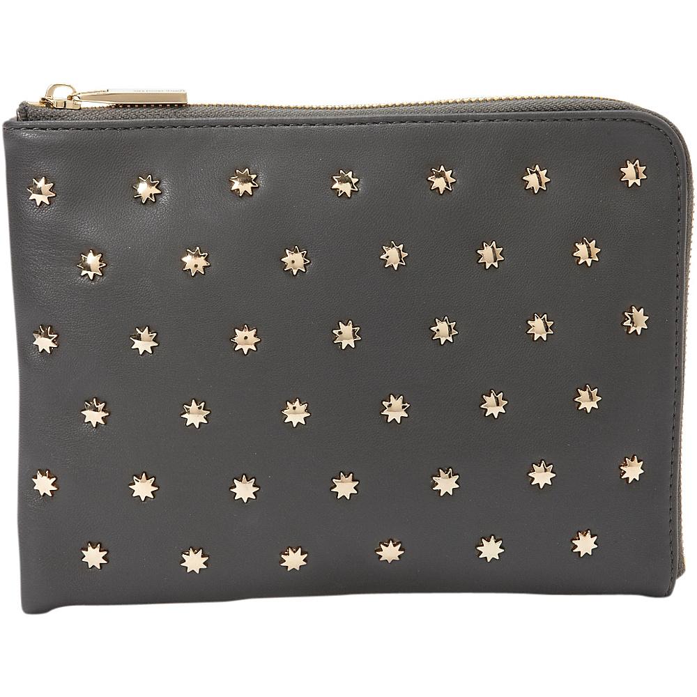 deux lux Etoile L Zip Pouch Charcoal deux lux Manmade Handbags
