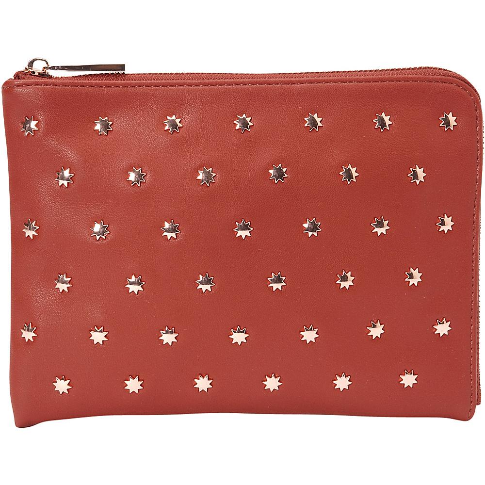 deux lux Etoile L Zip Pouch Rust deux lux Manmade Handbags