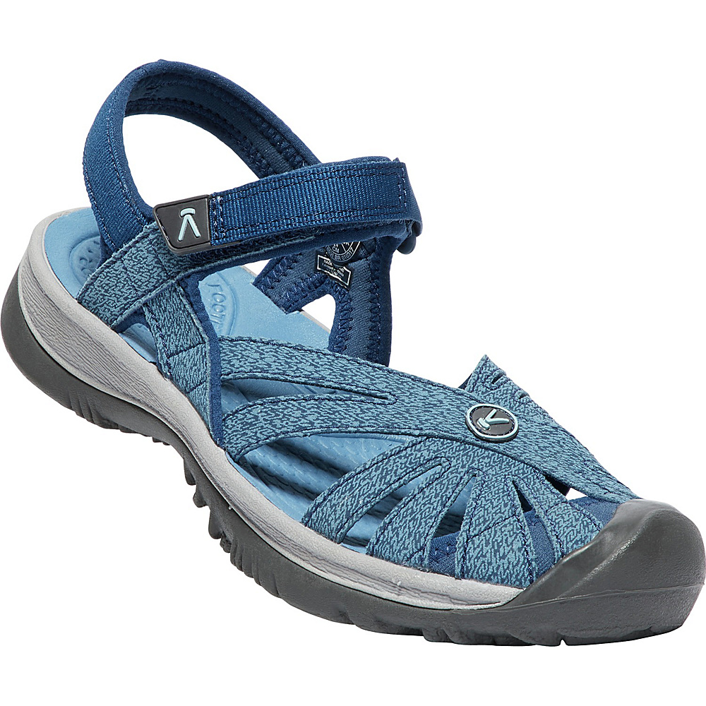 KEEN Womens Rose Sandal 6.5 - Blue Opal/Provincial Blue - KEEN Womens Footwear - Apparel & Footwear, Women's Footwear
