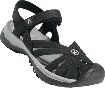 KEEN Womens Rose Sandal 7 - Black/Neutral Gray - KEEN Women's Footwear