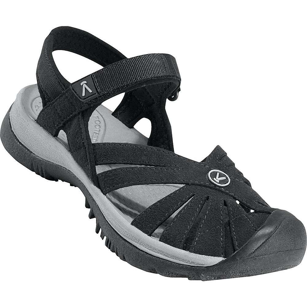 KEEN Womens Rose Sandal 10.5 - Black/Neutral Gray - KEEN Womens Footwear - Apparel & Footwear, Women's Footwear