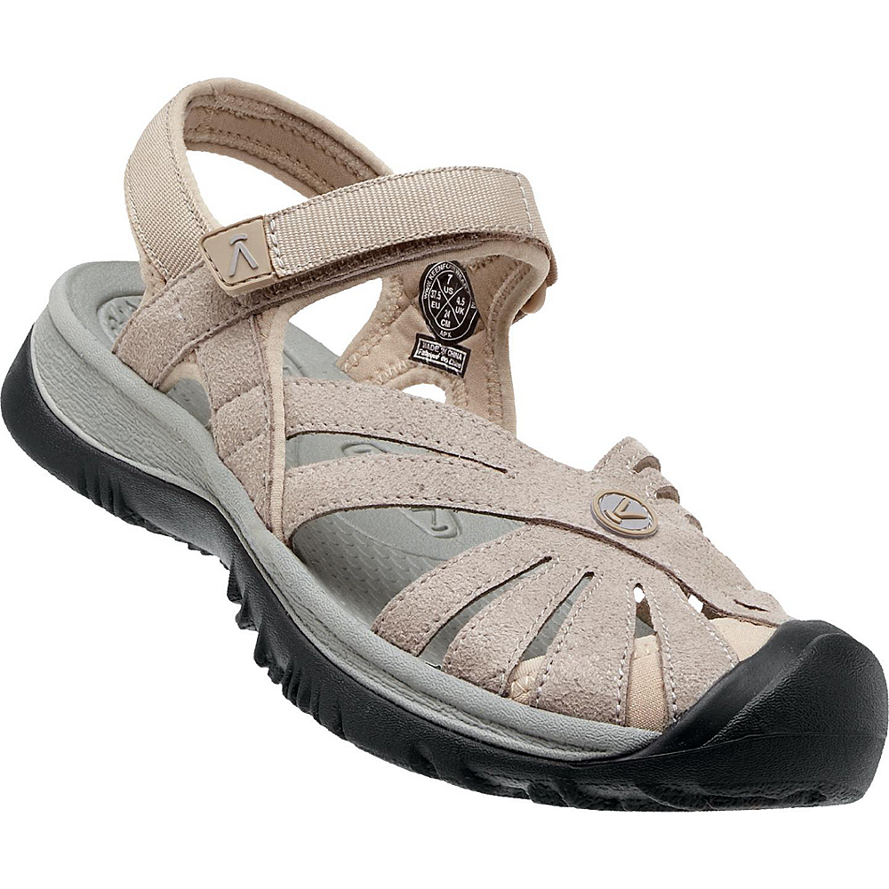 KEEN Womens Rose Sandal 6.5 - Aluminum / Neutral Grey - KEEN Womens Footwear - Apparel & Footwear, Women's Footwear