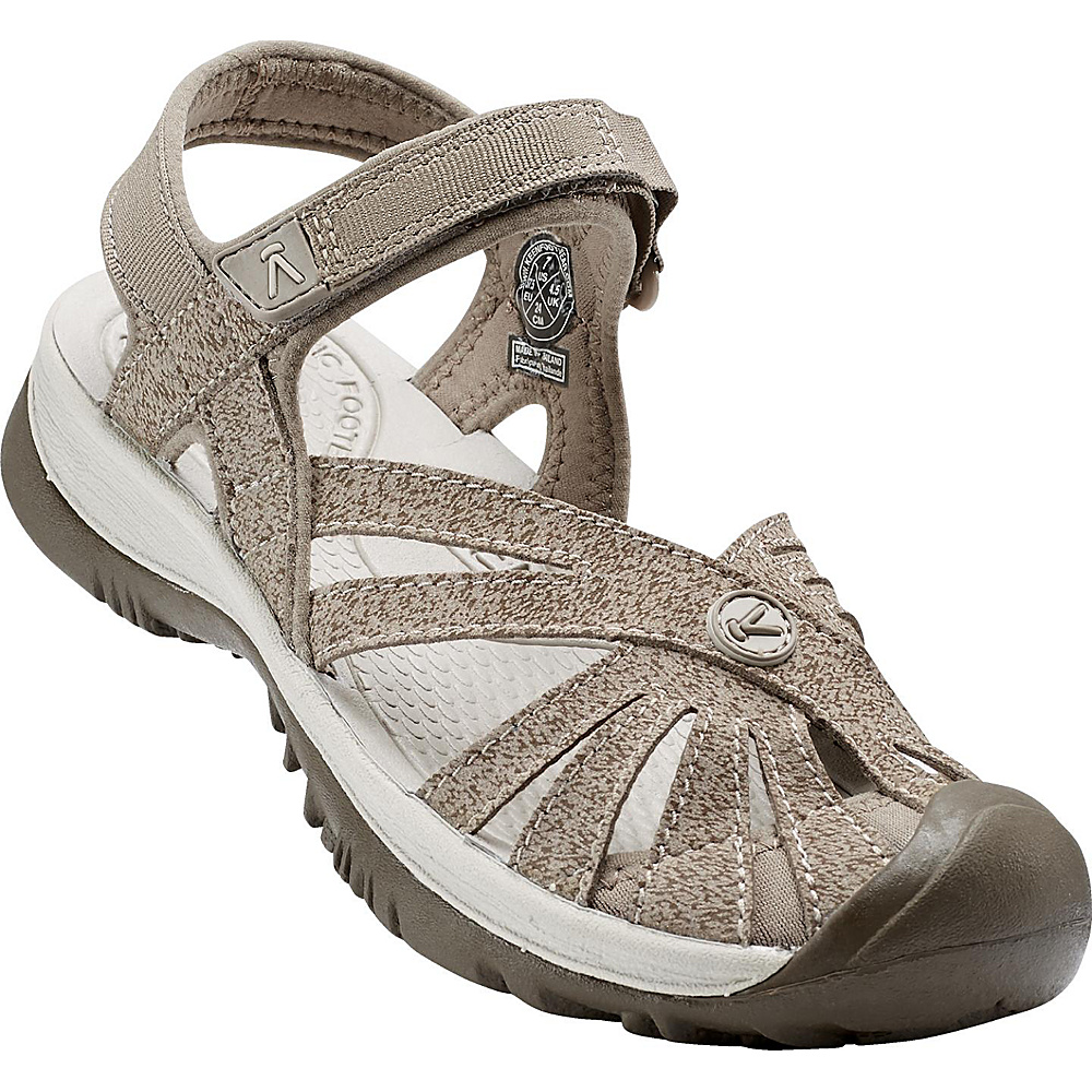 KEEN Womens Rose Sandal 7 - Brindle/Shitake - KEEN Womens Footwear - Apparel & Footwear, Women's Footwear