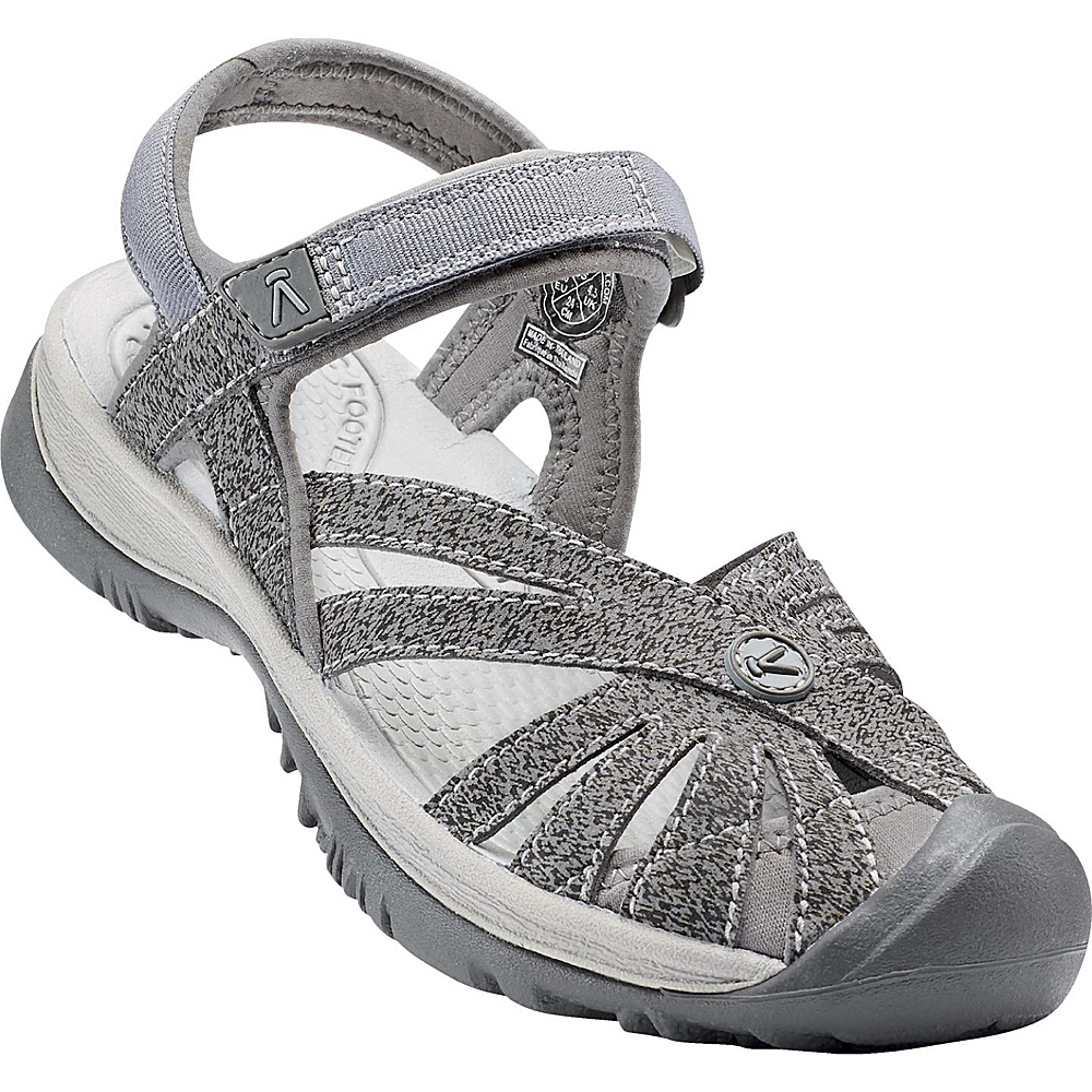 KEEN Womens Rose Sandal 8 - Gargoyle/Raven - KEEN Womens Footwear - Apparel & Footwear, Women's Footwear