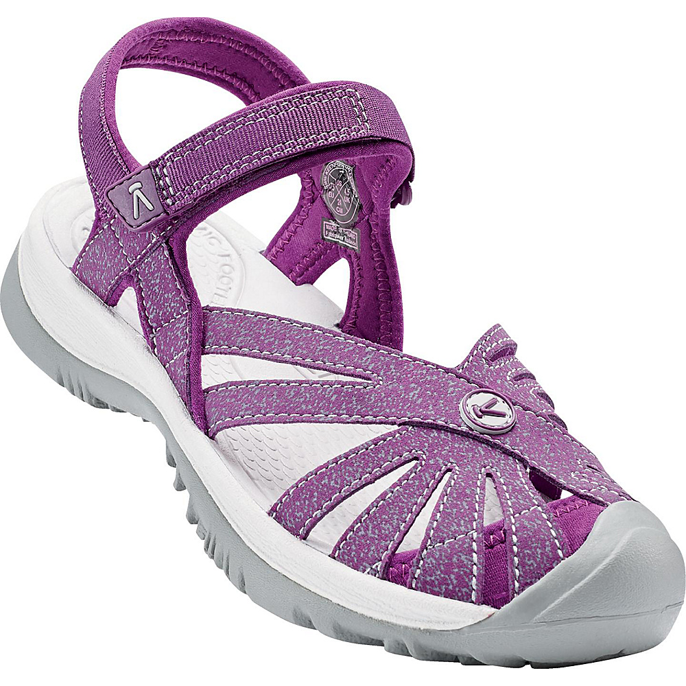 KEEN Womens Rose Sandal 7 - Dark Purple/Purple Sage - KEEN Womens Footwear - Apparel & Footwear, Women's Footwear