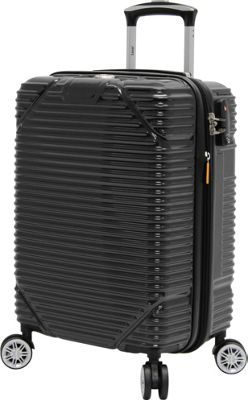 LUCAS Troy 20 inch Exp Hardside Spinner Black - LUCAS Softside Carry-On