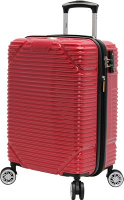 LUCAS Troy 20 inch Exp Hardside Spinner Red - LUCAS Softside Carry-On