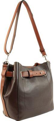 Emilie M Keira Bucket Hobo Tmoro/Cognac - Emilie M Manmade Handbags