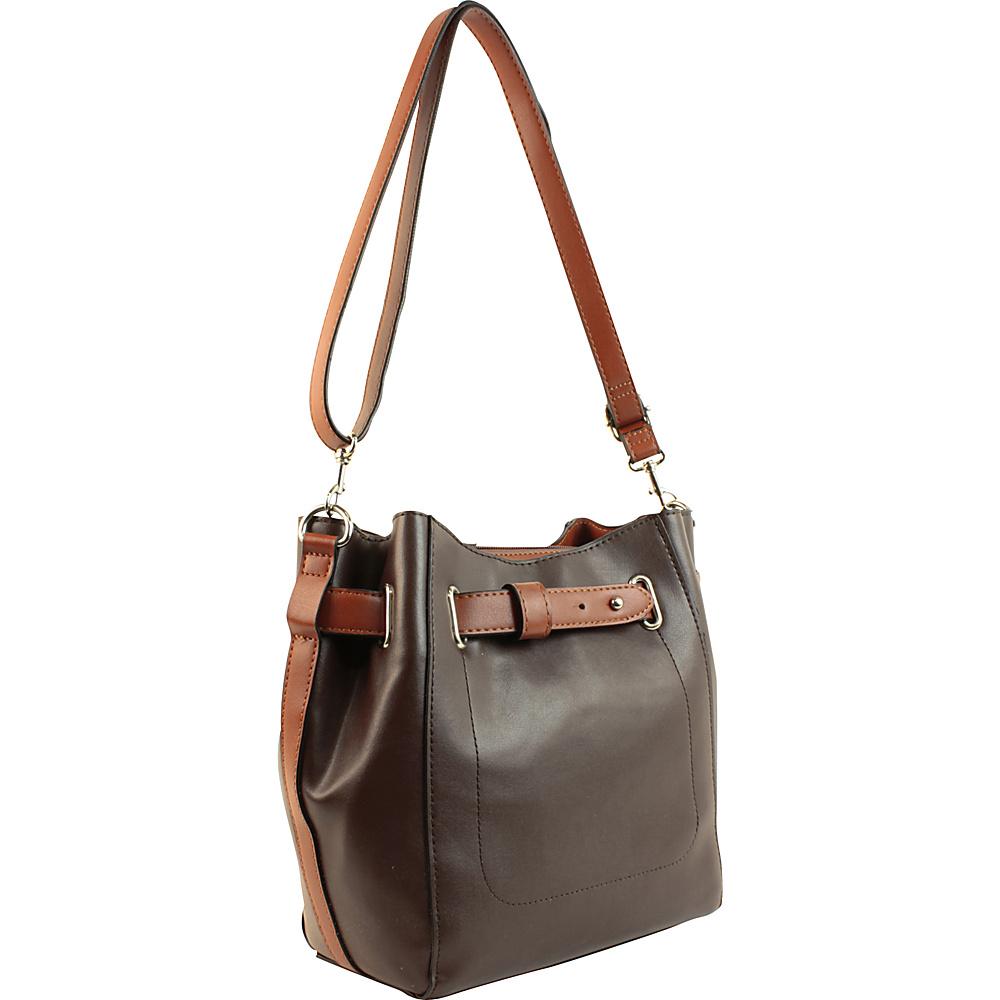 Emilie M Keira Bucket Hobo Tmoro Cognac Emilie M Manmade Handbags