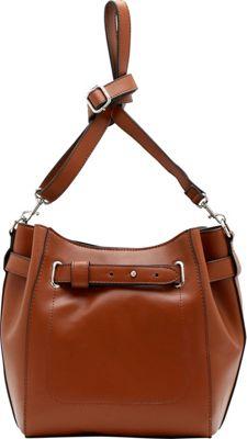 Emilie M Keira Bucket Hobo Cognac - Emilie M Manmade Handbags