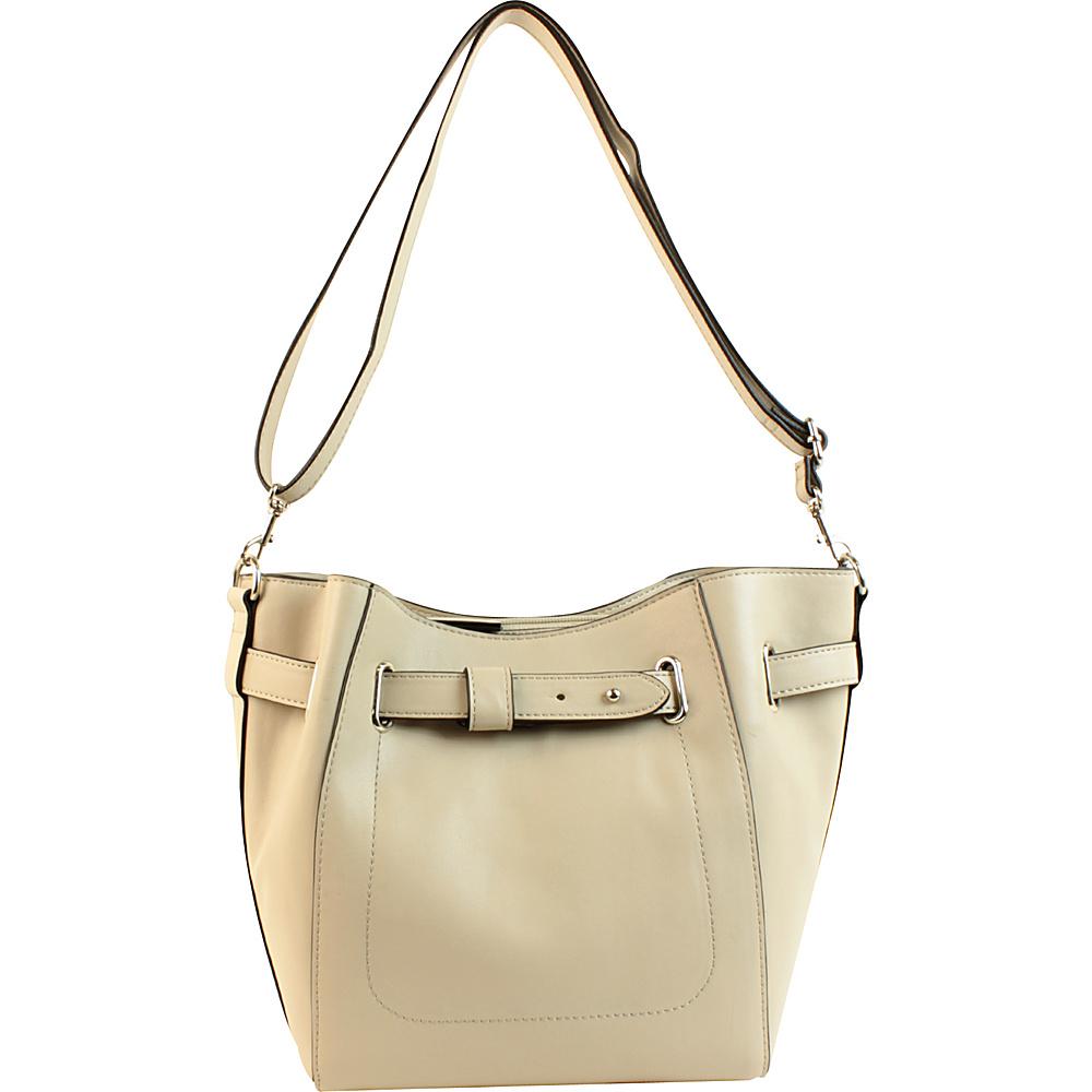 Emilie M Keira Bucket Hobo Grey Emilie M Manmade Handbags