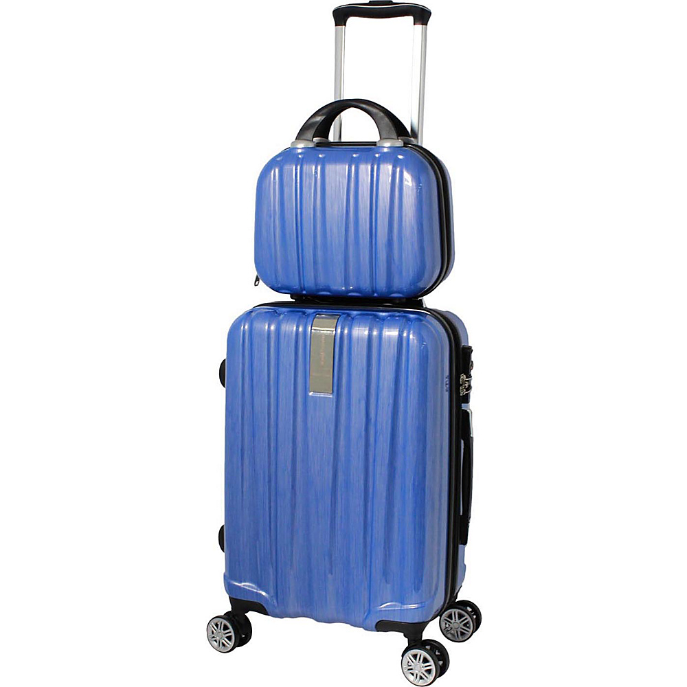 World Traveler Monaco 2-Piece Expandable Carry-On Spinner Luggage Set Blue - World Traveler Luggage Sets - Luggage, Luggage Sets