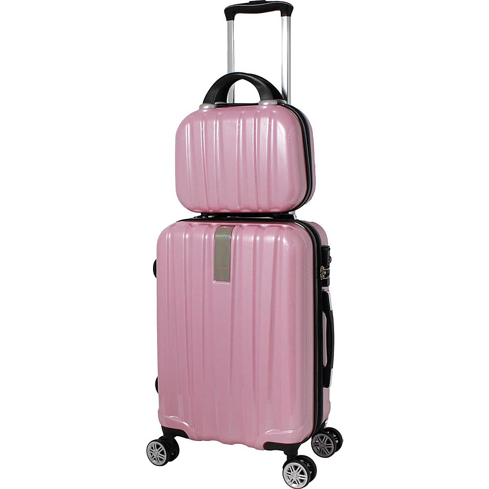 World Traveler Monaco 2-Piece Expandable Carry-On Spinner Luggage Set Pink - World Traveler Luggage Sets - Luggage, Luggage Sets