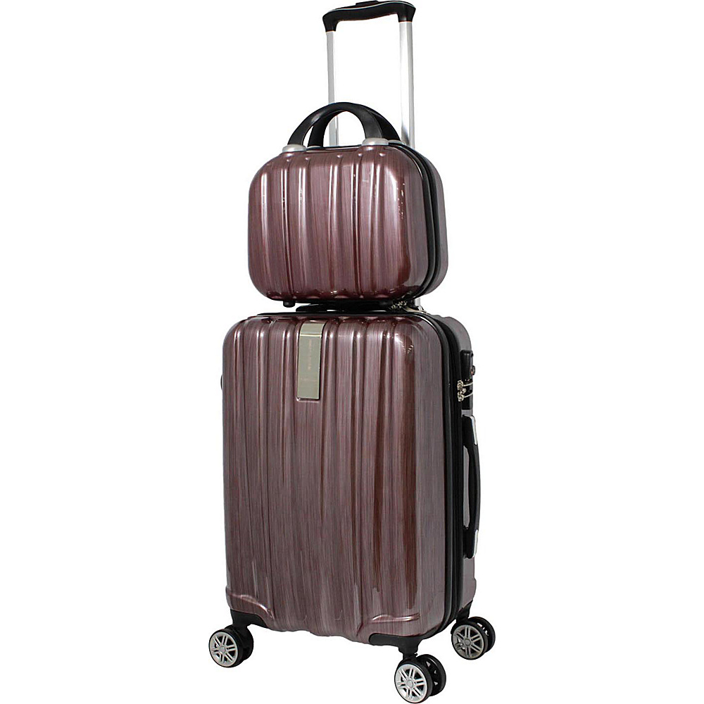 World Traveler Monaco 2-Piece Expandable Carry-On Spinner Luggage Set Burgundy - World Traveler Luggage Sets - Luggage, Luggage Sets
