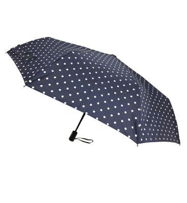 London Fog Umbrellas Fashion Mini Auto Open Close Umbrella Cream Dot - London Fog Umbrellas Umbrellas and Rain Gear