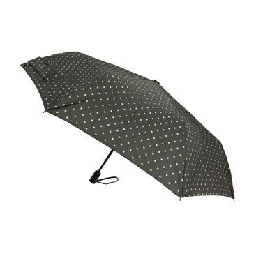 London Fog Umbrellas Fashion Mini Auto Open Close Umbrella Beige Dot - London Fog Umbrellas Umbrellas and Rain Gear