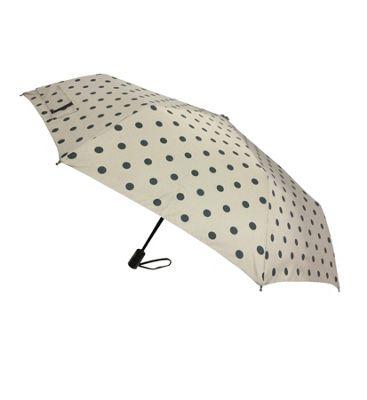 London Fog Umbrellas Fashion Mini Auto Open Close Umbrella Black Dot - London Fog Umbrellas Umbrellas and Rain Gear
