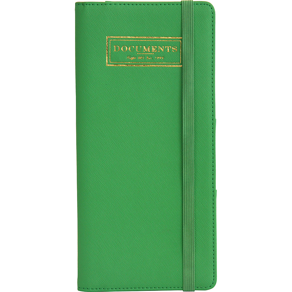 Flight 001 Correspondent Document Holder Green Flight 001 Travel Wallets