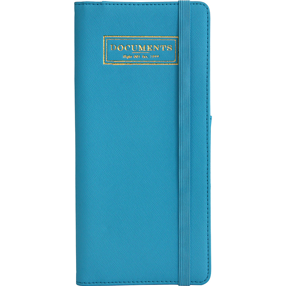 Flight 001 Correspondent Document Holder Blue Flight 001 Travel Wallets