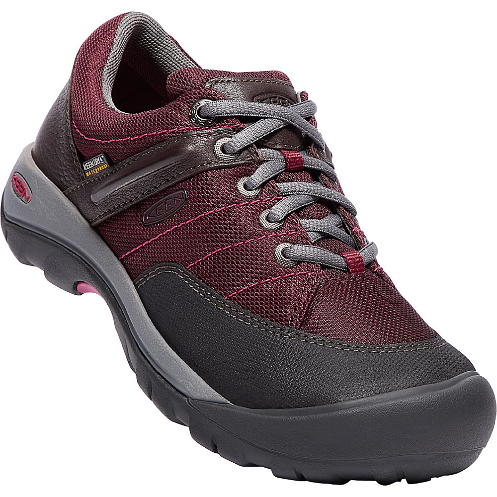 KEEN Womens Presidio Sport Mesh WP Shoe 7 - Zinfandel - KEEN Womens Footwear - Apparel & Footwear, Women's Footwear