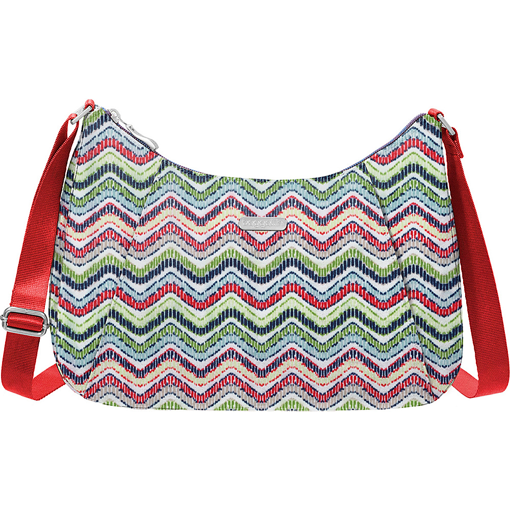 baggallini Slim Crossbody Hobo Wave Print - baggallini Fabric Handbags - Handbags, Fabric Handbags