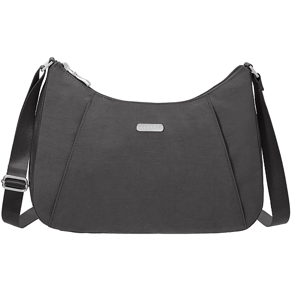 baggallini Slim Crossbody Hobo Charcoal - baggallini Fabric Handbags - Handbags, Fabric Handbags