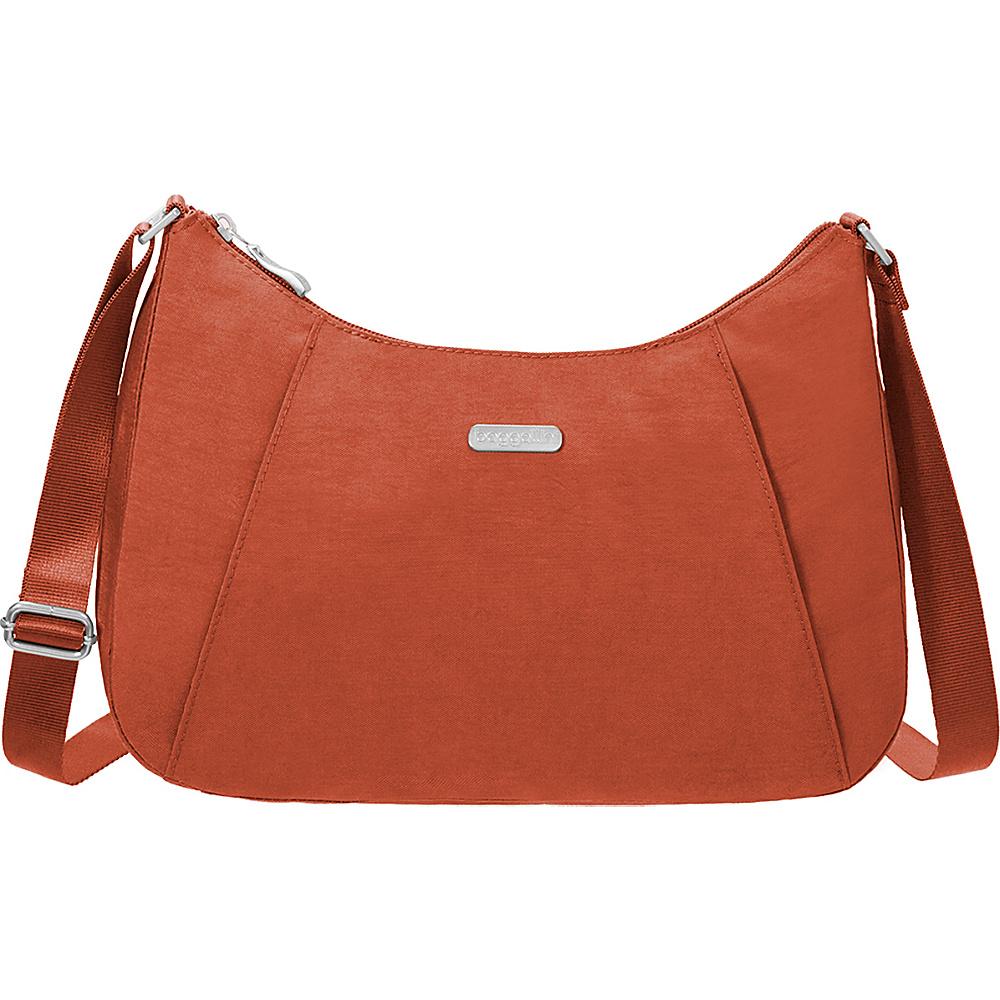 baggallini Slim Crossbody Hobo Adobe - baggallini Fabric Handbags - Handbags, Fabric Handbags