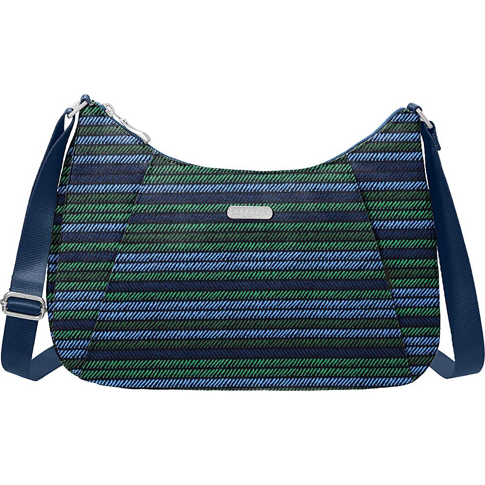 baggallini Slim Crossbody Hobo Moss Stripe - baggallini Fabric Handbags - Handbags, Fabric Handbags