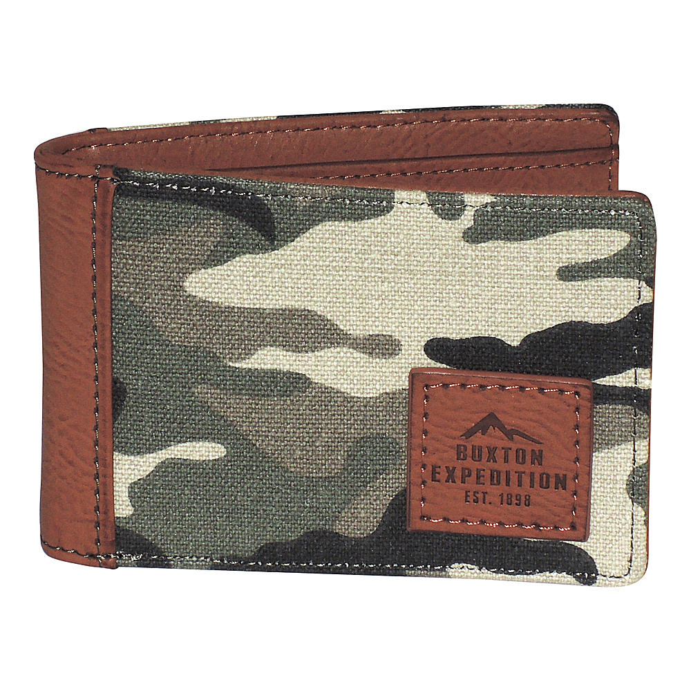 Buxton Expedition II Huntington Gear RFID Front Pocket Slimfold Camouflage - Buxton Mens Wallets - Work Bags & Briefcases, Men's Wallets
