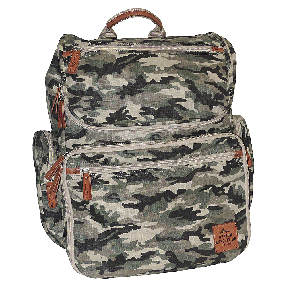 Buxton Expedition II Huntington Gear Backpack Camouflage - Buxton Business & Laptop Backpacks - Backpacks, Business & Laptop Backpacks