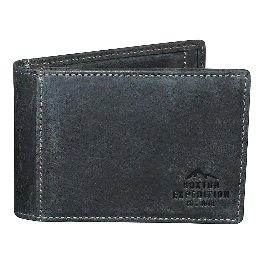 Buxton Expedition II RFID Slimfold with Clip Black - Buxton Mens Wallets - Work Bags & Briefcases, Men's Wallets