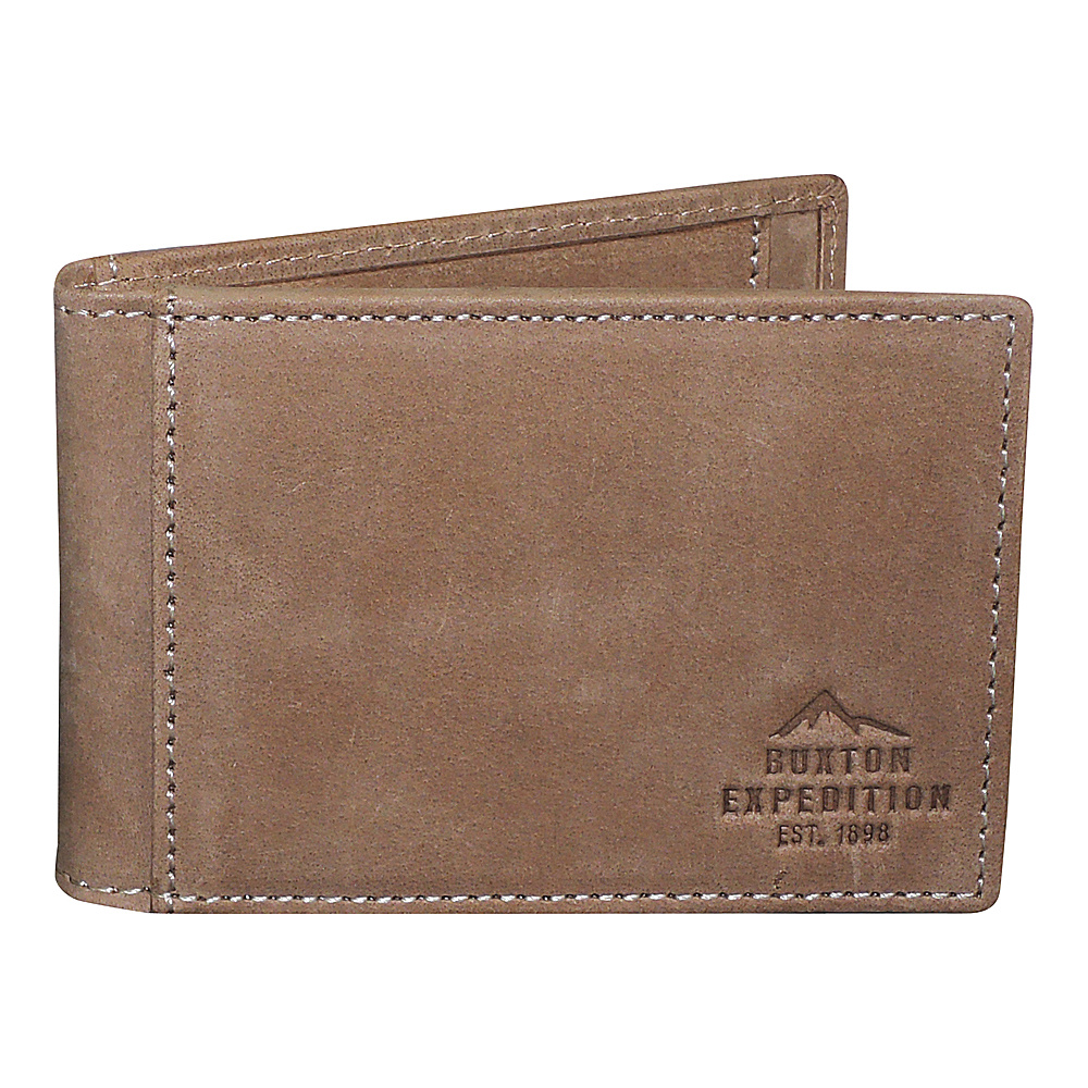 Buxton Expedition II RFID Slimfold with Clip Saddle - Buxton Mens Wallets - Work Bags & Briefcases, Men's Wallets