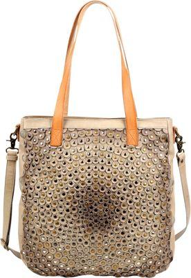 Old Trend Stellar Stud Tote Beige - Old Trend Leather Handbags