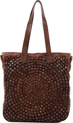 Old Trend Stellar Stud Tote Cognac - Old Trend Leather Handbags