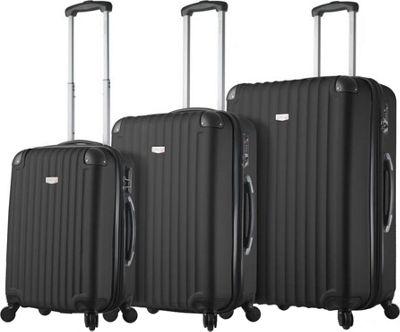 Mia Viaggi ITALY Rovigo Hardside 3 Piece Spinner Set Black - Mia Viaggi ITALY Luggage Sets
