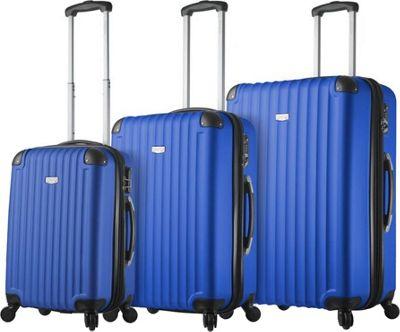 Mia Viaggi ITALY Rovigo Hardside 3 Piece Spinner Set Blue - Mia Viaggi ITALY Luggage Sets