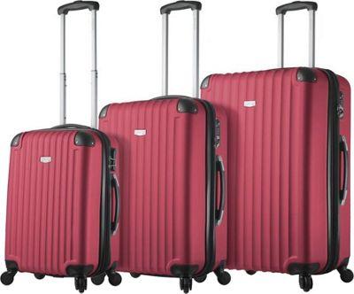 Mia Viaggi ITALY Rovigo Hardside 3 Piece Spinner Set Burgandy - Mia Viaggi ITALY Luggage Sets